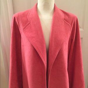 Pink Lightweight Suede Jacket Size L. Machine Wash